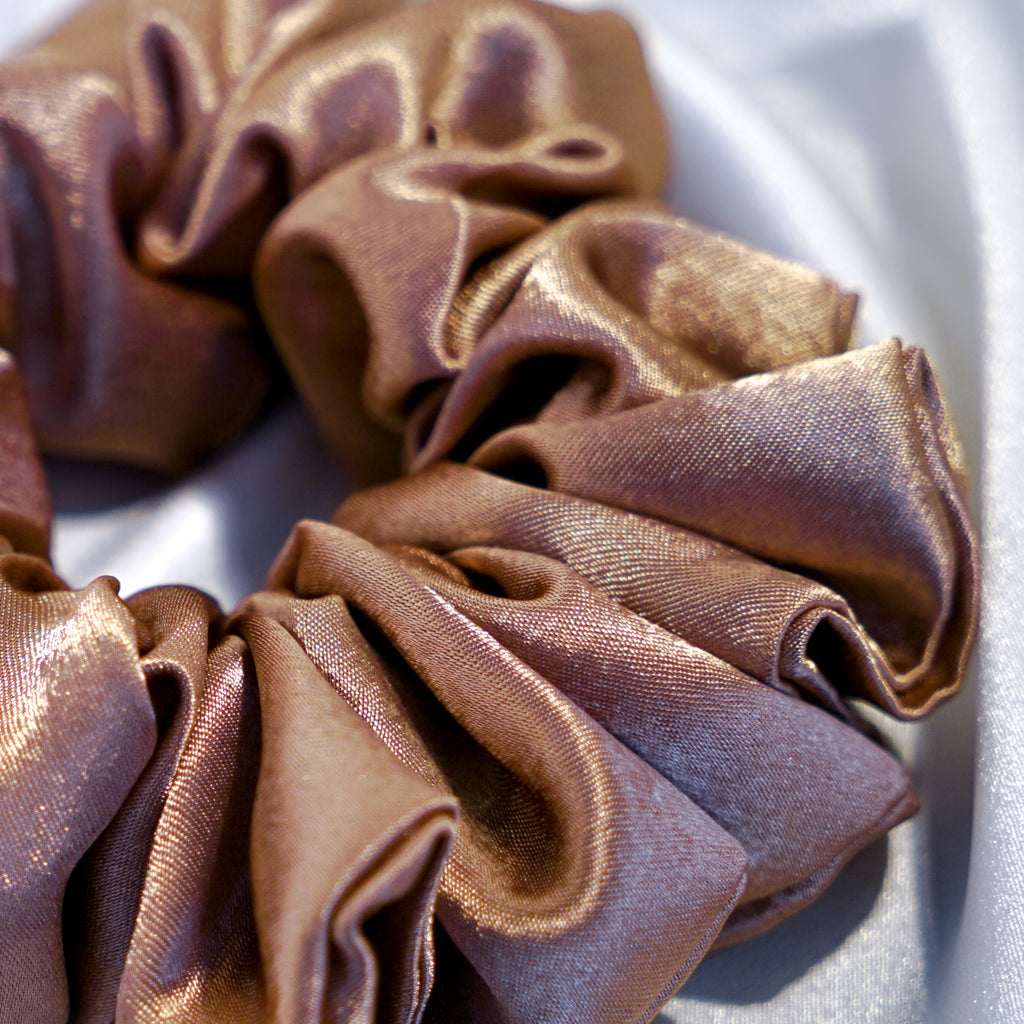 Large Champagne Hair Scrunchie