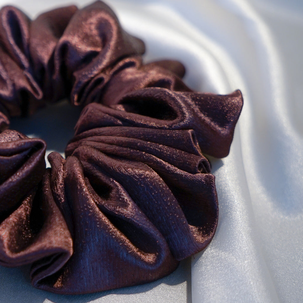 Large Chocolate Hair Scrunchie