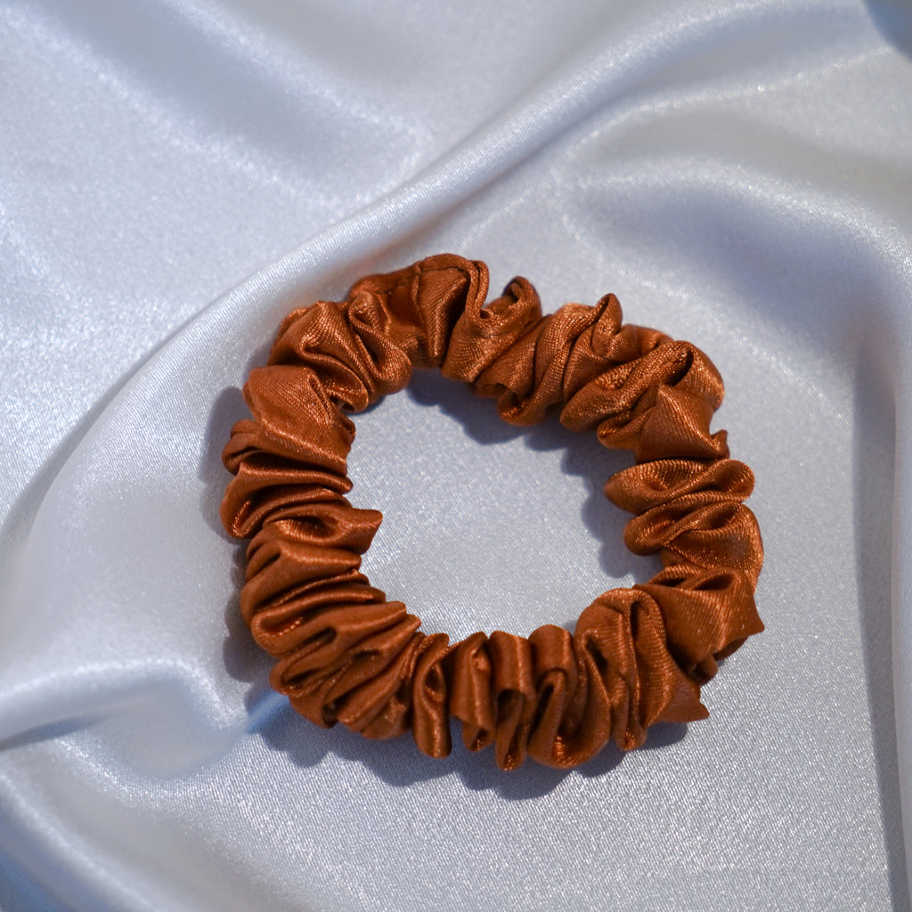 Skinny Burnt Orange Hair Scrunchie