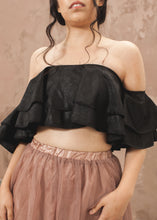 Load image into Gallery viewer, Bardot Frill Crop Top - thenakedlaundry