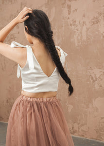 Tie on Bow Crop Top - thenakedlaundry