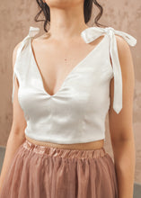 Load image into Gallery viewer, Tie on Bow Crop Top - thenakedlaundry