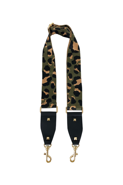 Black Colour Deluxe Leo Camo Bag Strap Army