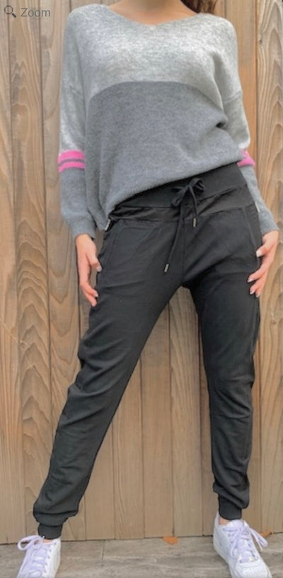 Velvet & Rose Leisure Joggers Plain Grey