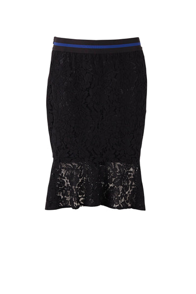 Saint Tropez Lace Skirt With Sport Band Black