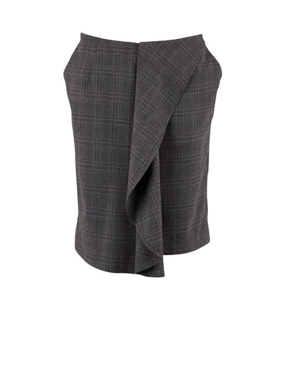 Saint Tropez Glen Skirt Check Grey