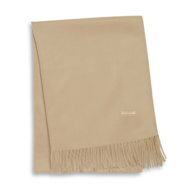 Katie Loxton Wrapped Up in Love Boxed Scarf Collection Camel