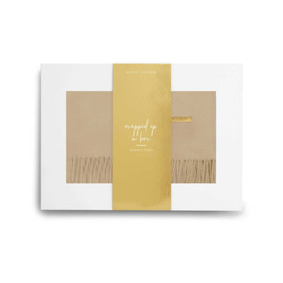 KLS164 Katie Loxton Wrapped Up in Love Boxed Scarf Collection Camel
