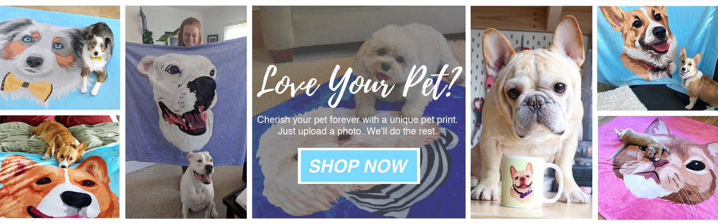 Print Your Pet On A Blanket Phone Case Canvas And More Printy Pets