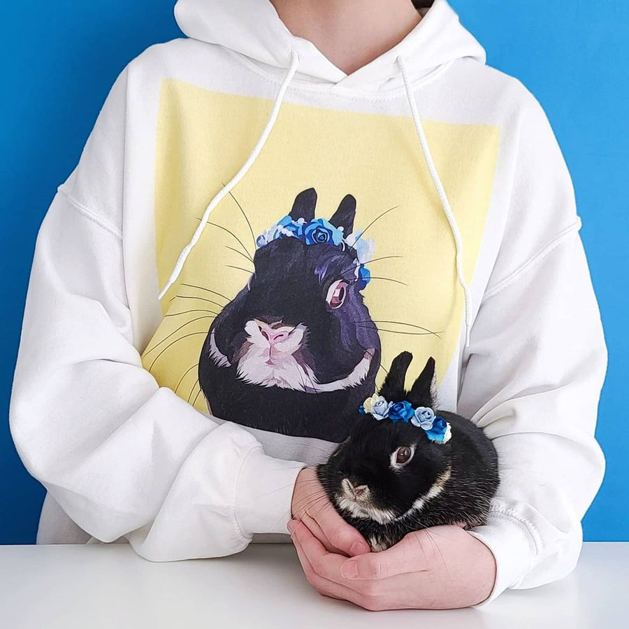 Men's / Women's Premium Pet Portrait Hoodie (White)