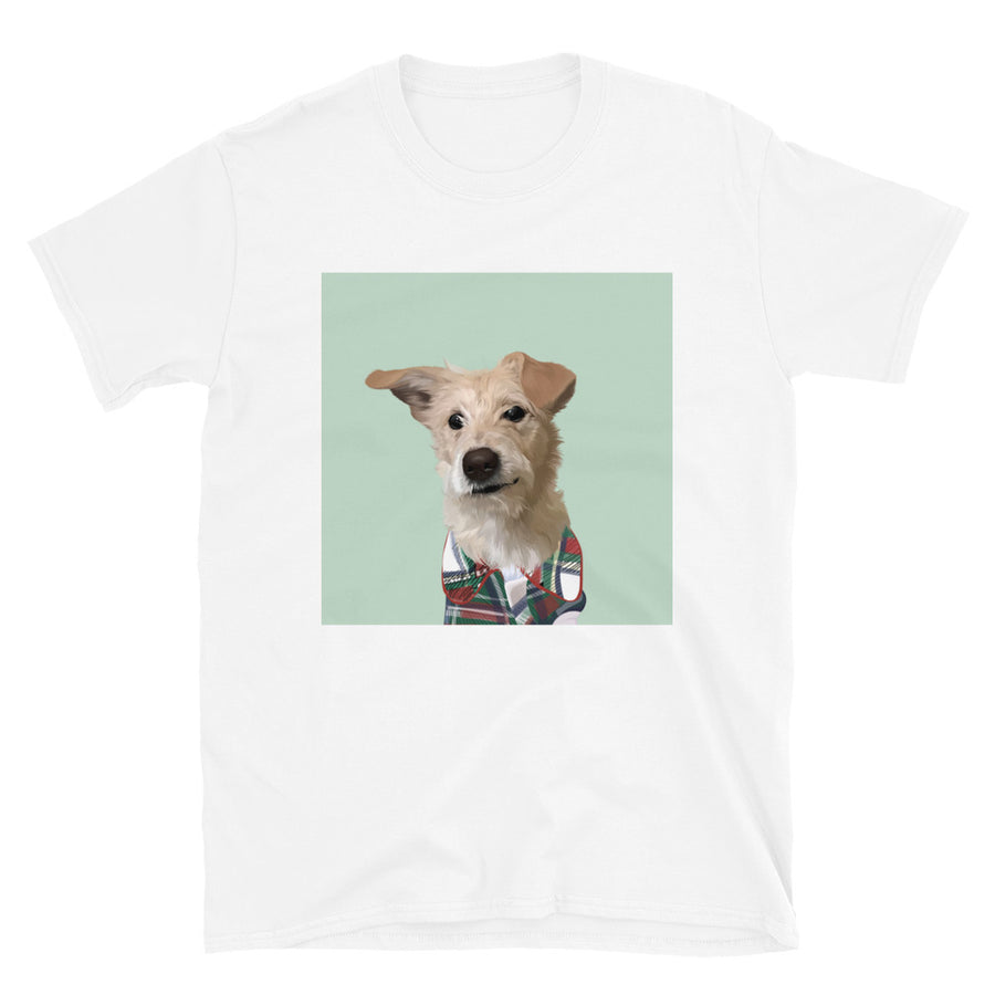 Men's Premium Pet Portrait T-Shirt (White)