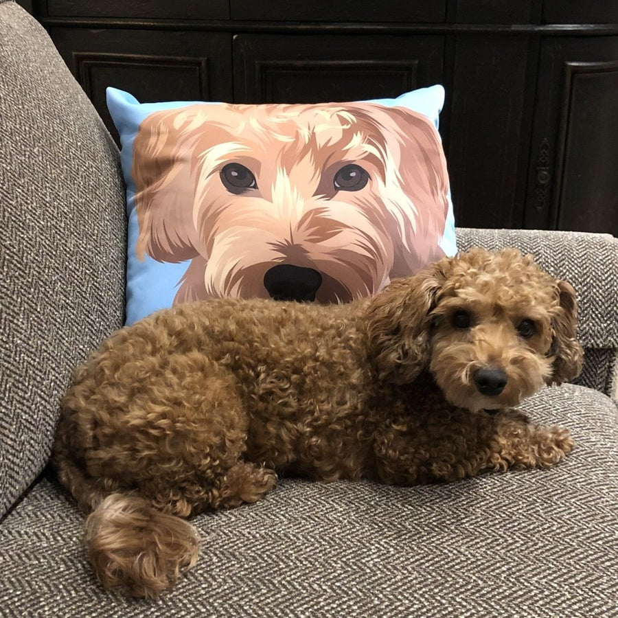Custom Pet Print Throw Pillow