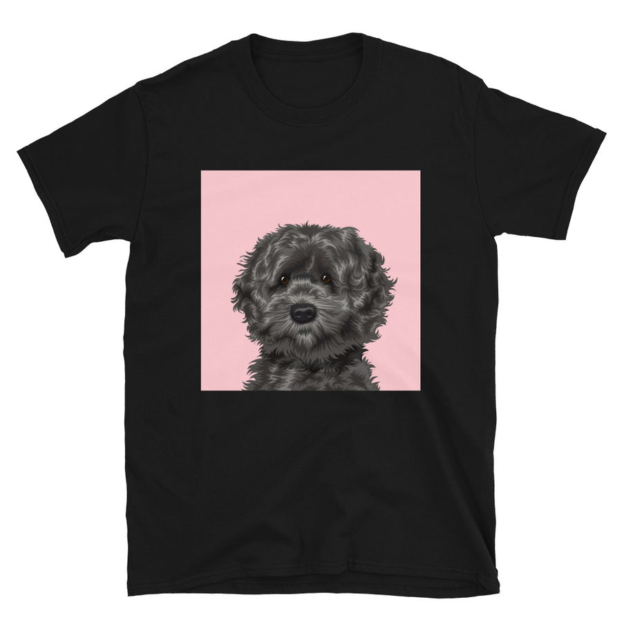 Women's Premium Pet Portrait T-Shirt (Black)