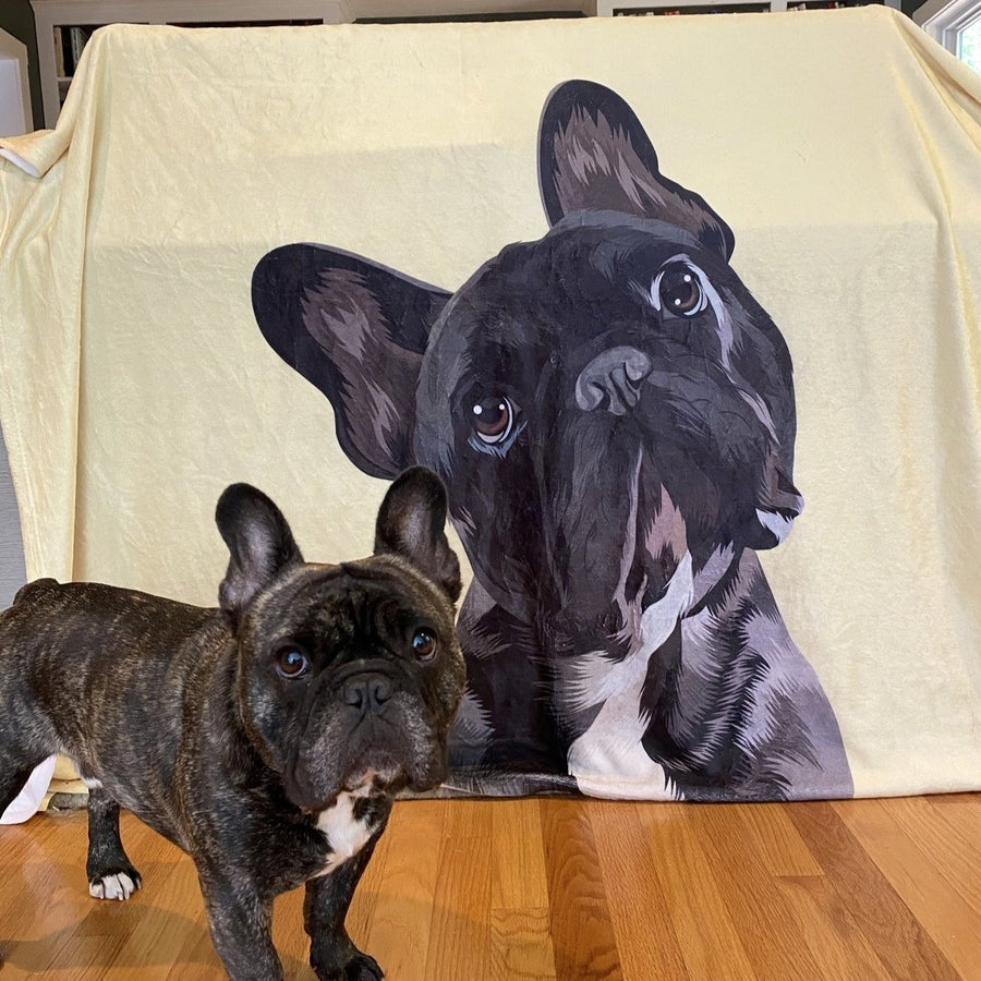 Premium Pet Portrait Blanket