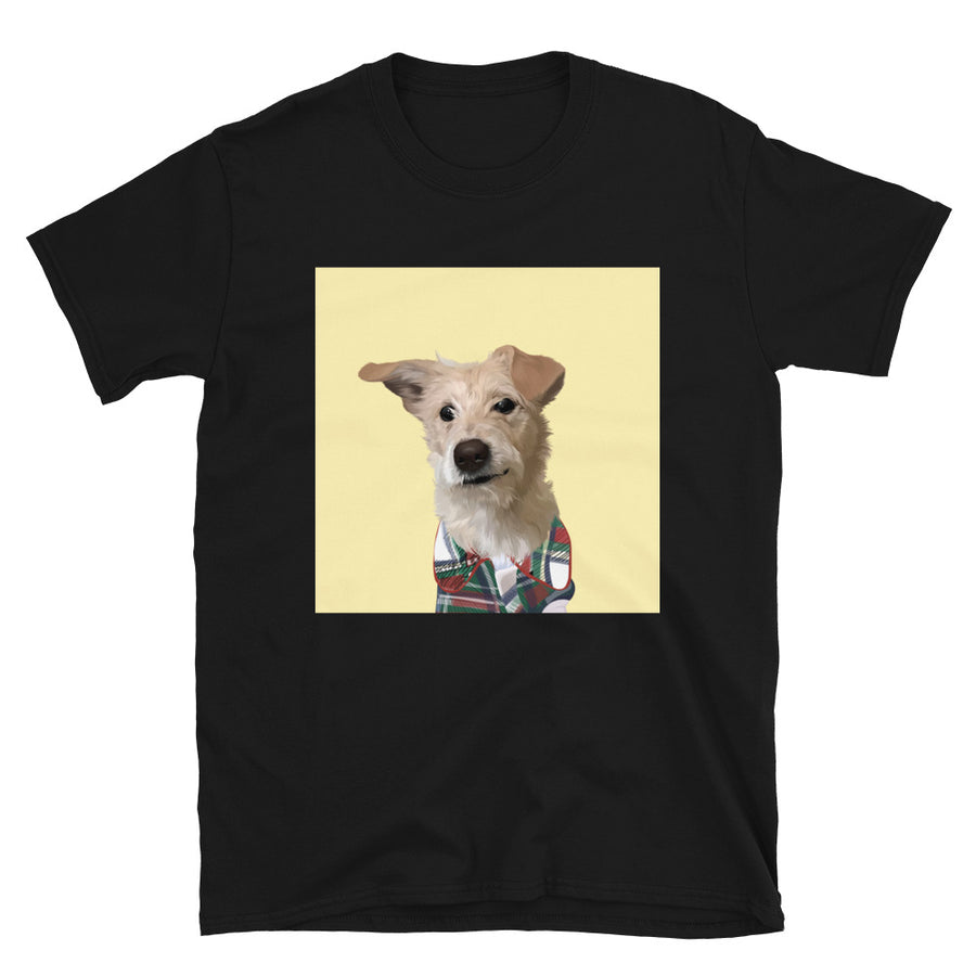 Men's Premium Pet Portrait T-Shirt (Black)