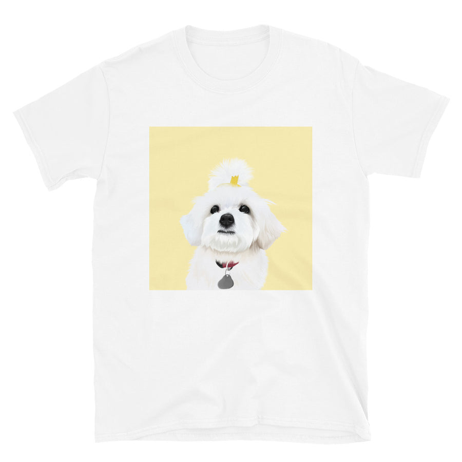 Women's Premium Pet Portrait T-Shirt (White)