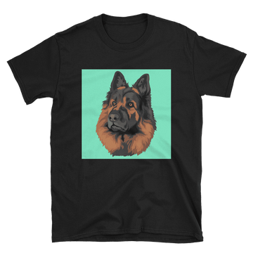 Men's Custom Black Pet Print T-Shirt