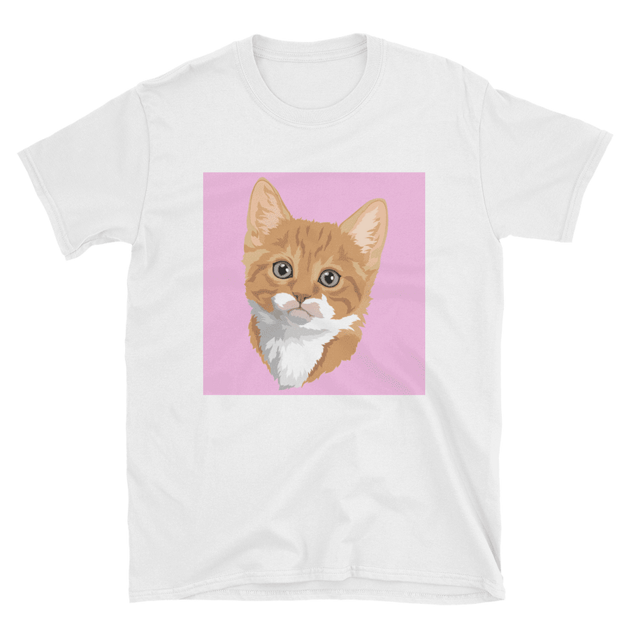 Women's Custom White Pet Print T-Shirt