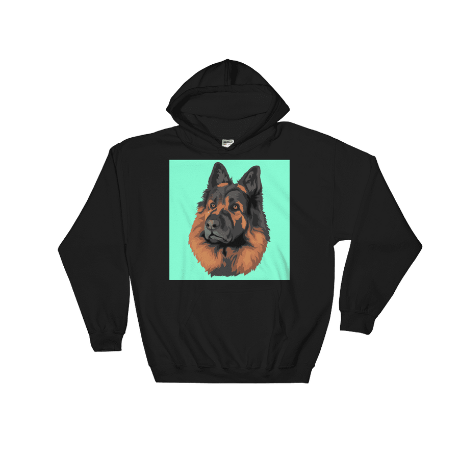 Men's / Women's Custom Pet Print Hoodie (Black)