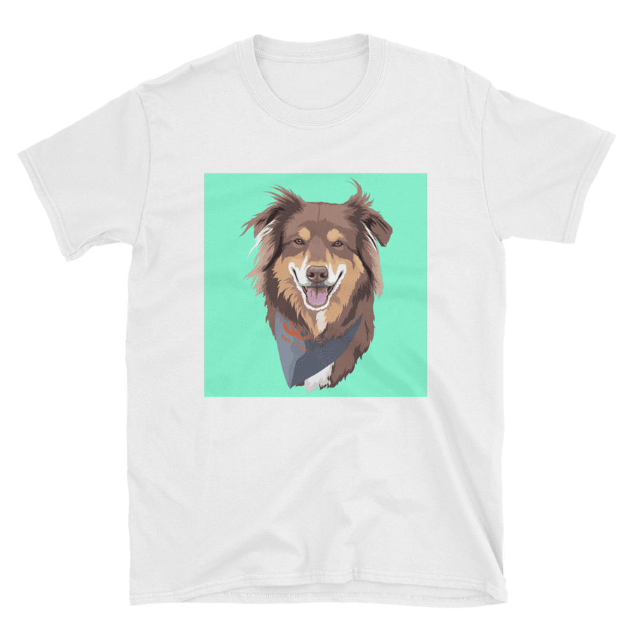 Men's Custom White Pet Print T-Shirt