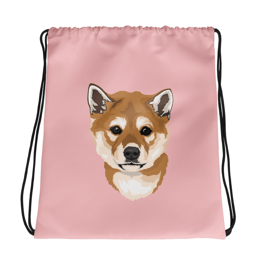 Custom Pet Print Drawstring Bag