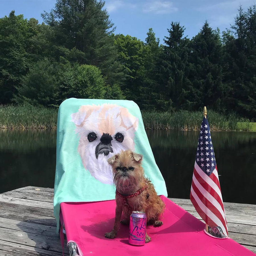 Custom Pet Print Beach Towel