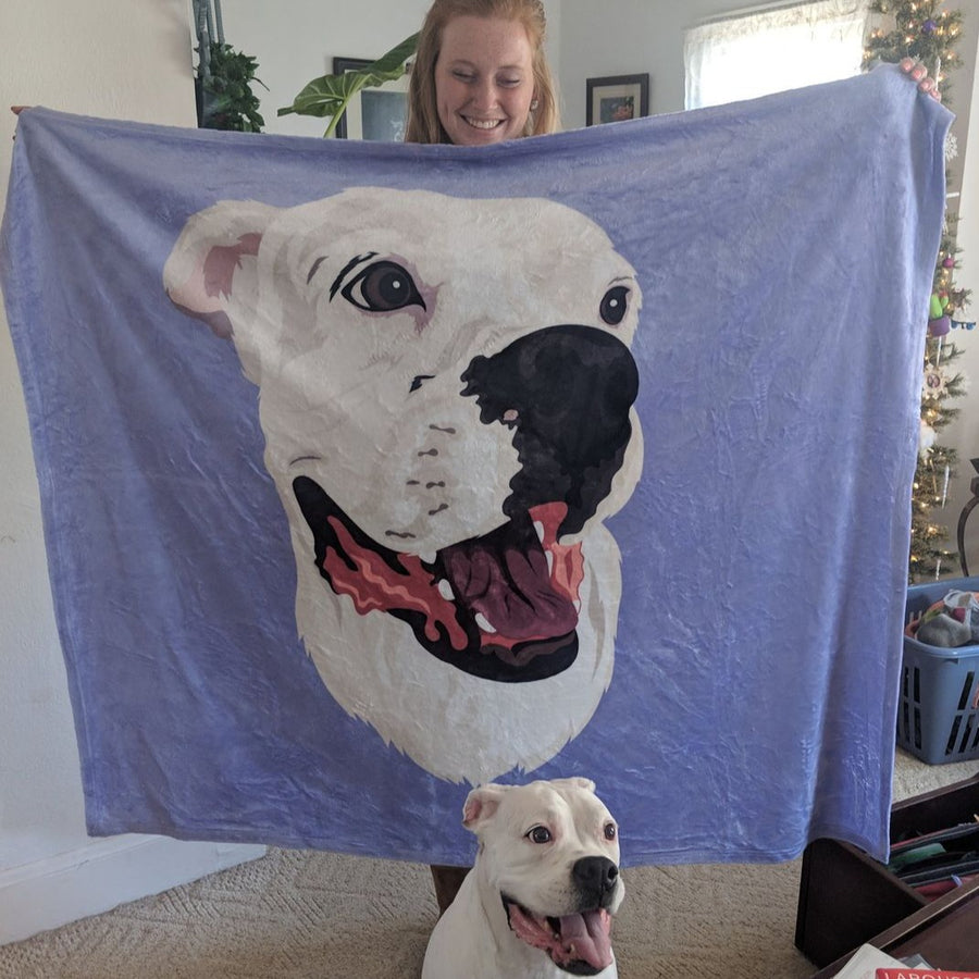 Custom Pet Print Fleece Blanket [Best Seller]