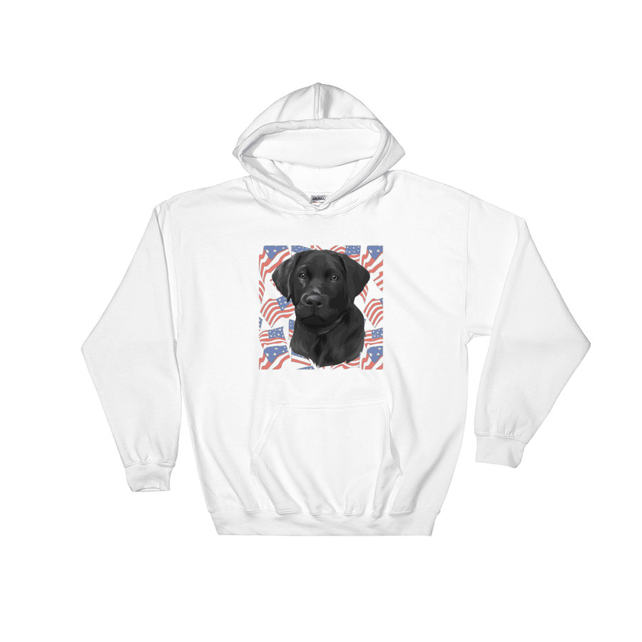 Unisex Independence Day Pet Print Hoodie (White)