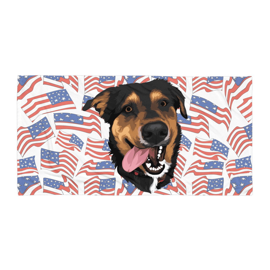Independence Day Pet Print Beach Towel