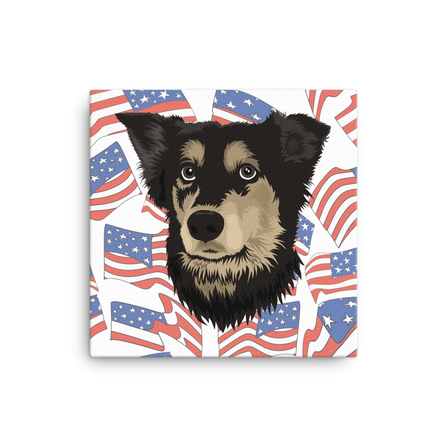 Independence Day Pet Portrait Canvas