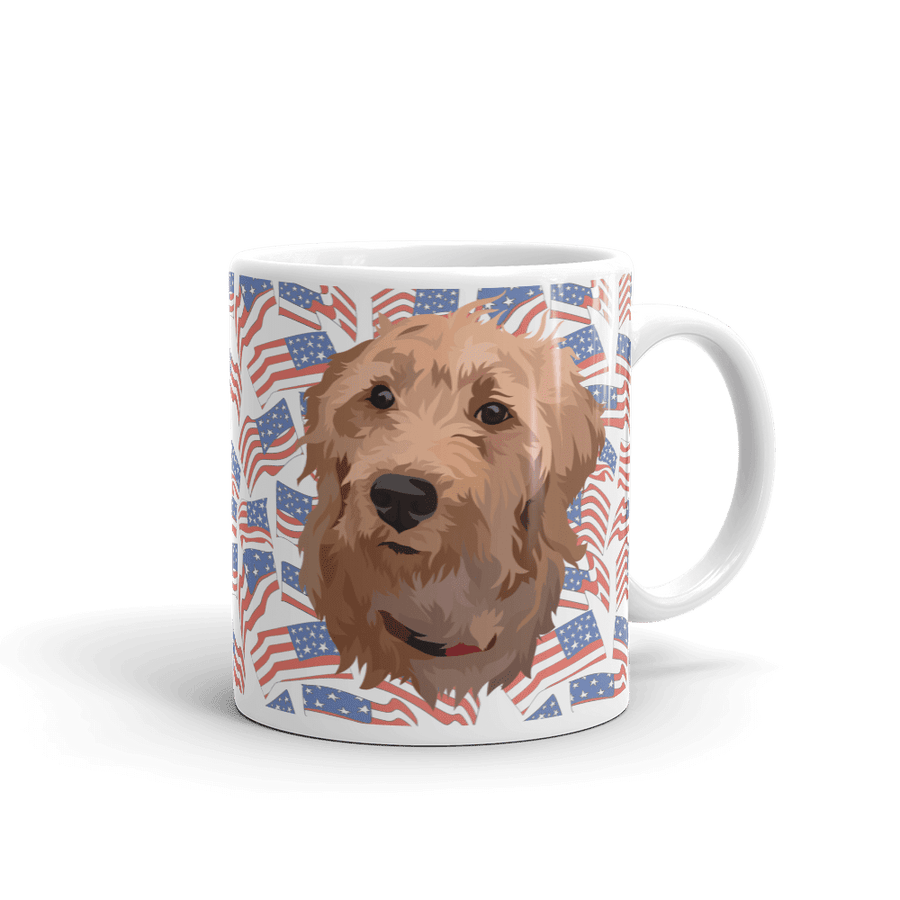 Independence Day Pet Print Coffee Mug