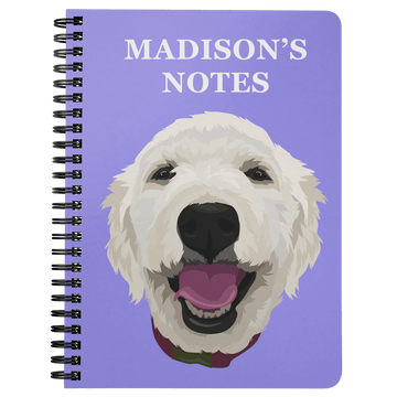 Custom Pet Print Spiral Notebook