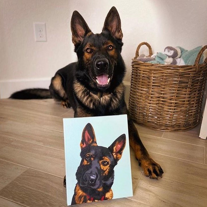 Premium Pet Portrait Canvas
