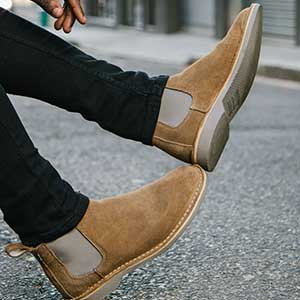 Veldskoen shoes ethically handcrafted genuine leather boots and shoes from South Africa genuine leather chelsea boots grey