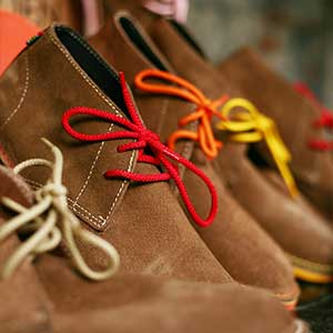 Veldskoen shoes ethically handcrafted genuine leather boots and shoes from South Africa multi color laces with genuine leather
