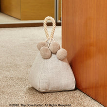 Load image into Gallery viewer, White Fabric Door Stopper with rope handle