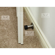 Load image into Gallery viewer, mounted door stop with 3M on skirting board