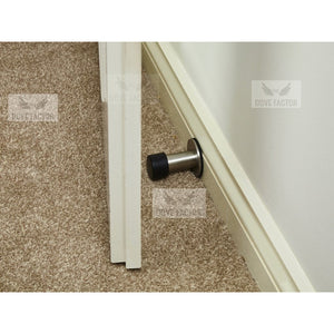 mounted door stop with 3M on skirting board