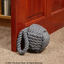 Load image into Gallery viewer, Nautical Rope Knot Fabric Door Stop