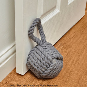 Cotton Rope Knot Fabric Door Stopper