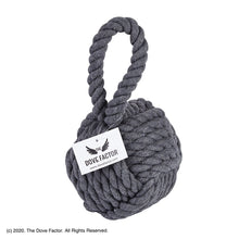 Load image into Gallery viewer, Nautical Rope Knot Fabric Door Stop - Grey