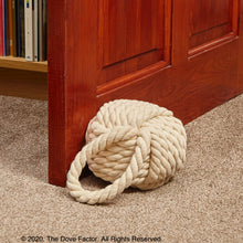 Load image into Gallery viewer, Nautical Rope Knot Fabric Door Stop -Tan