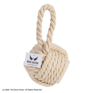 Nautical Rope Knot Fabric Door Stop - Egg Shell
