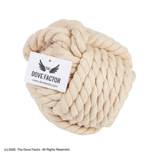 Load image into Gallery viewer, Nautical Rope Knot Fabric Door Stop - Off White/Tan/Cream/Egg Shell