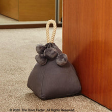 Load image into Gallery viewer, Grey Fabric Door Stopper with rope handle