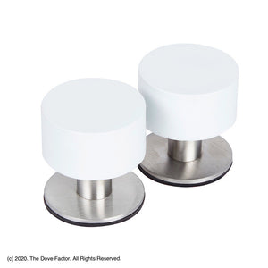 White Adhesive Door Stop By The Dove Factor (2 Pcs) Diy