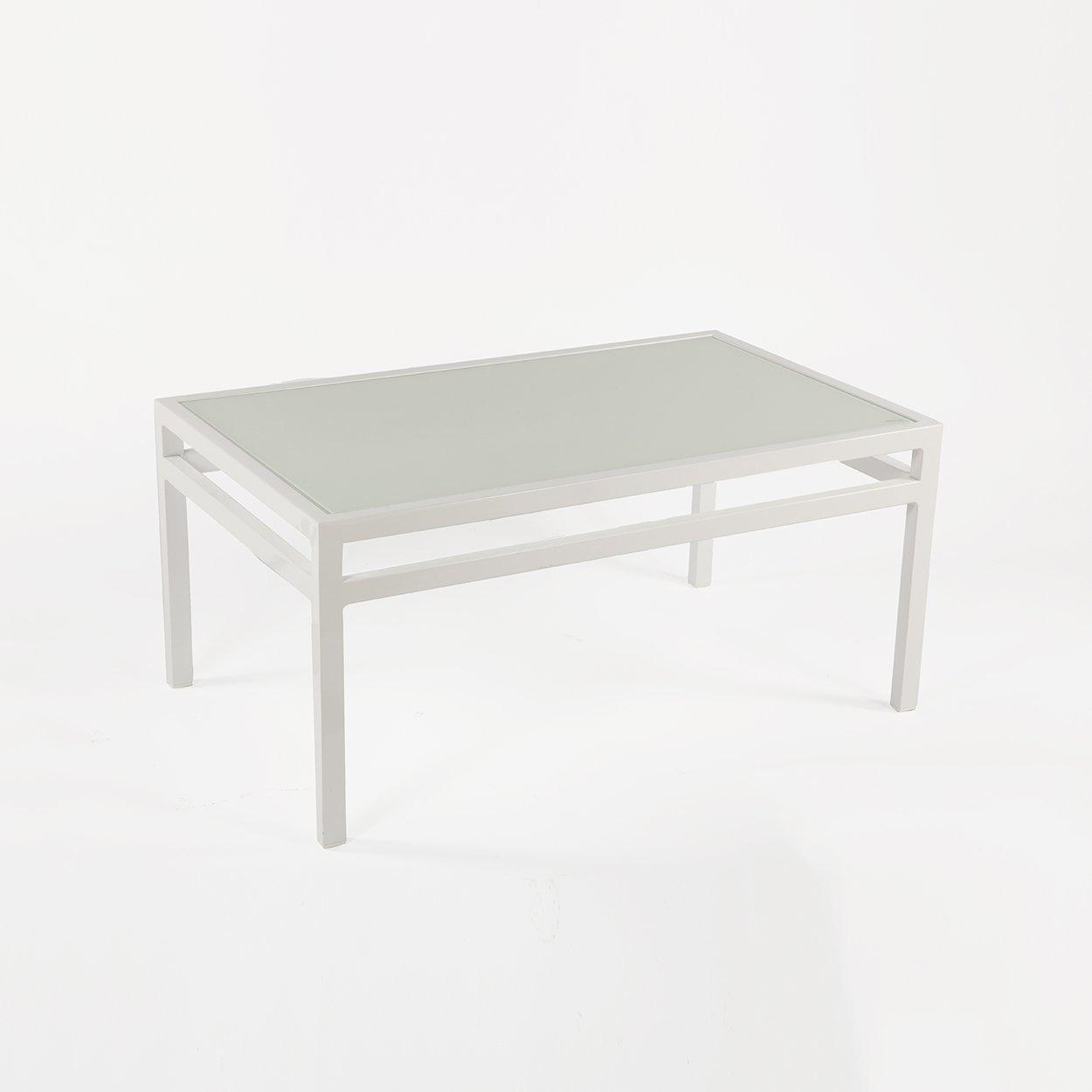 [FCT0223WHT] Meppel coffee table with glass top Sale