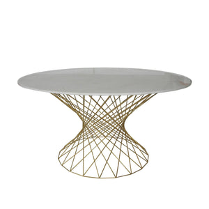 [FHT102WHTG] Twistata Dining Table
