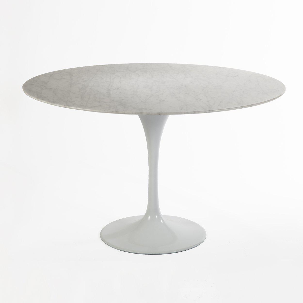 [RT335RWHITE] The 47 Round Saarinen Tulip Dining Table