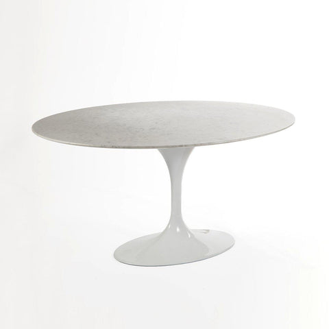 [RT335V60WHT] The Marble Tulip Dining Table 60